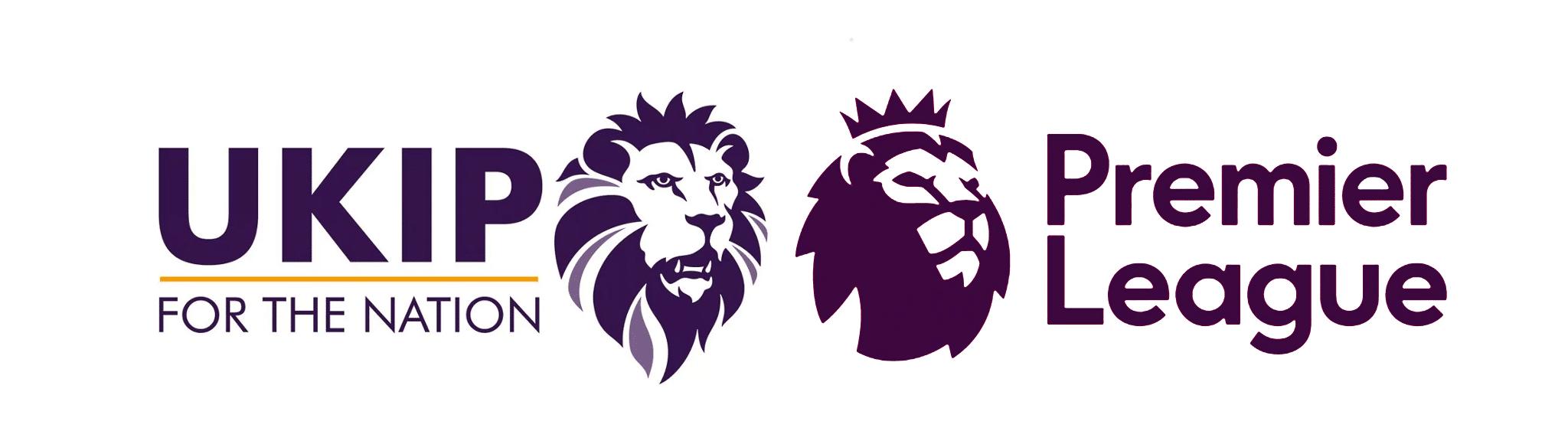 New UKIP logo vs Premier League logo